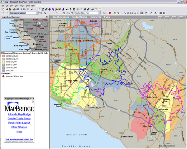 Drive Time Maps. Custom Drive Time Maps from Mapping ytics on
