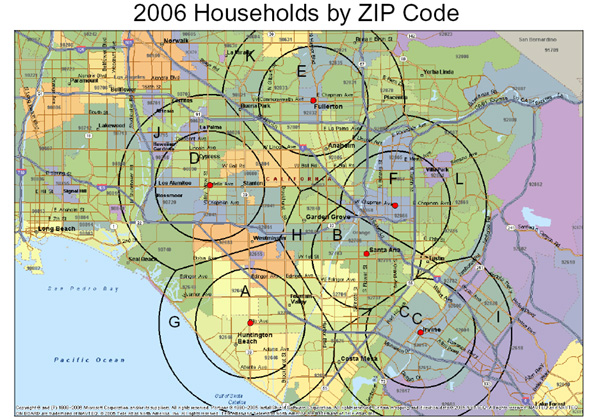 ZIP Code Maps Demographic Map By Zip Code on